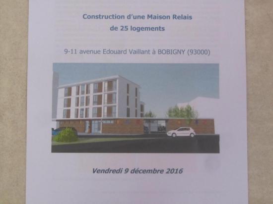 1ere pierre résidence accueil Bobigny déc 2016
