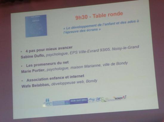 """SISM 2019 Table ronde """"Le développement de l'enfant et des ados à l'épreuve des écrans"""""""