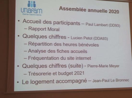 Assemblée annuelle 2021